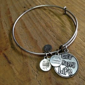 Alex and Ani Silver Tone Charm Bracelet Authentic